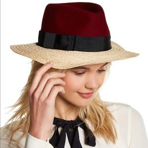 Kate Spade New York Colorblock Wool Crown Fedora